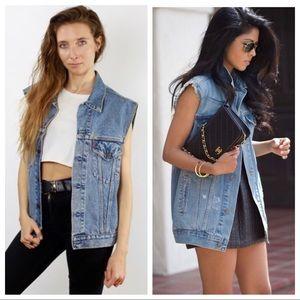 Levi's Oversized Denim Jean Vest Urban Outfitters